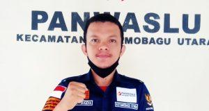 Ketua Panwaslu Kecamatan Kotamobagu Utara, Fitrah Sugeha, SP