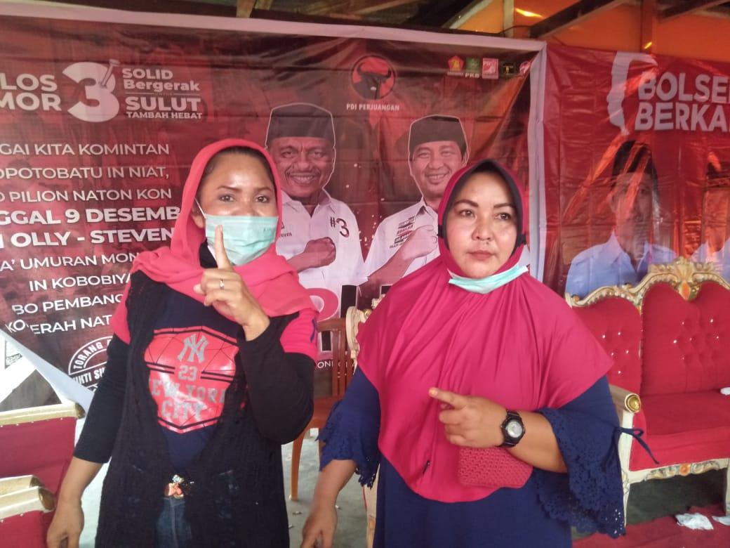 Emak-emak Toluaya optimis pasangan BerKAH menang telak.