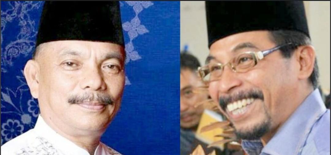 Kompol. (Purna) Hi. Tedi Pontoh (kiri), Ketua DPW PAN Sulut Sehan Salim Landjar (kanan)