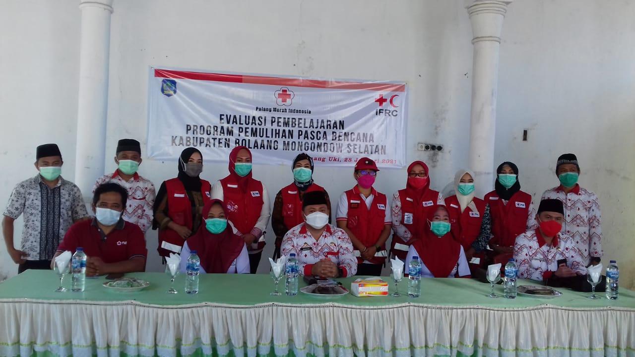 kegiatan Evaluasi Pembelajaran Program Pemulihan Pasca Bencana di Kabupaten Bolsel, yang digelar di Guest House Pemkab Bolsel, Molibagu.