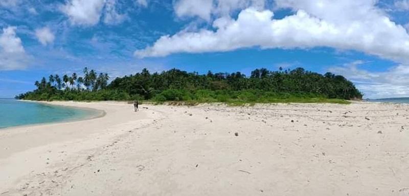 Tampak keindahan Pulau Nanas