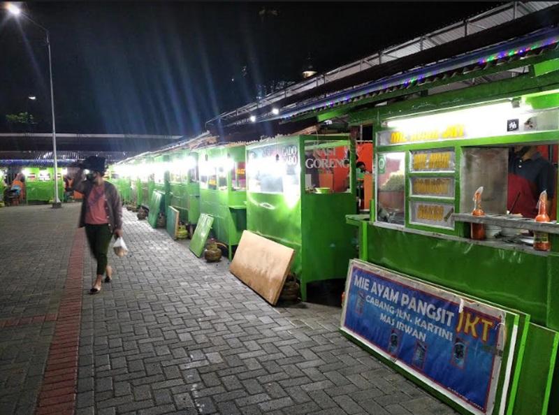 Kawan pasar kuliner Kotamobagu yang dibangun bagi pedagang eks jalan Kartini.