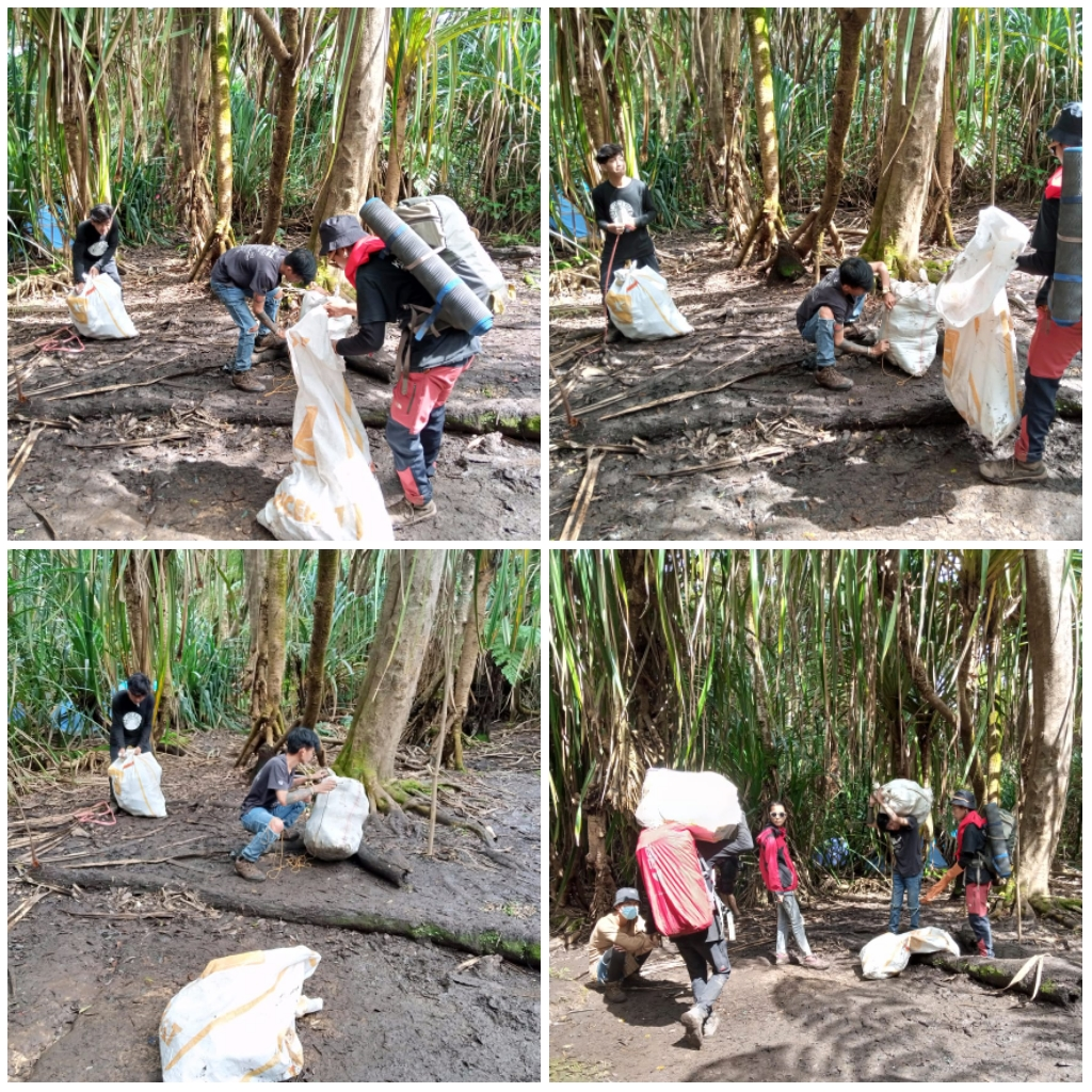 Rayakan Milad Ke-6, KPA Kano-Kano Gelar Aksi Pungut Sampah di Gunung Ambang