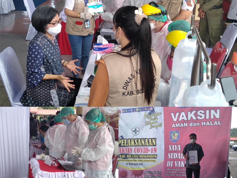 Lolos Screening, Wabup dan Sekda Bolmong Disuntik Vaksin Covid-19