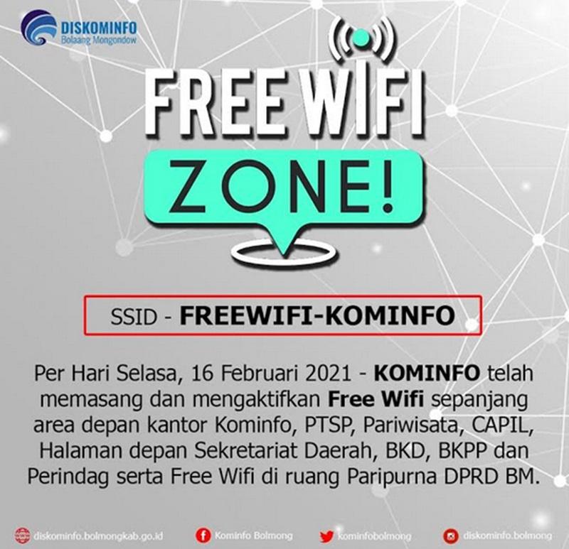 Kominfo Bolmong Sediakan Wifi Gratis di Sembilan Titik Ini