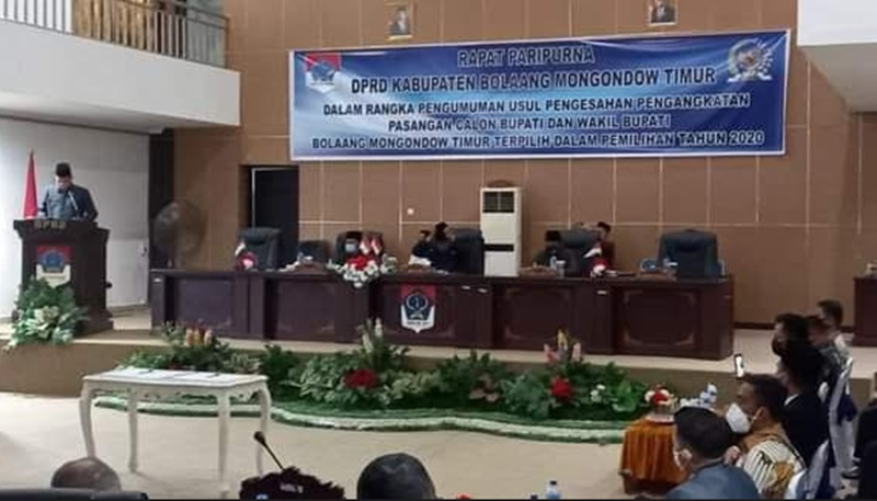 DPRD Boltim Gelar Paripurna Pengesahan Bupati Terpilih SSM-OPPO