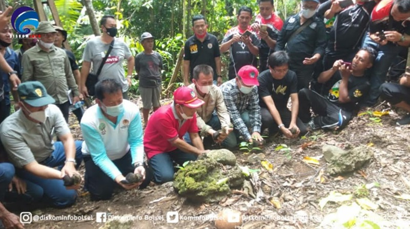 Tim Dinas Kehutanan Sulut, BKSDA, TNDNW dan WCS Kunjungi Bolsel