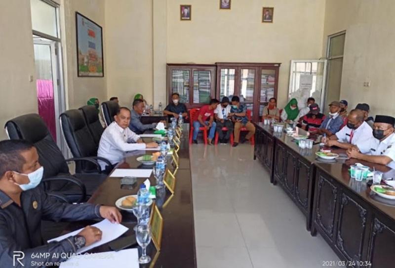 Komisi 1 DPRD Bolmut Gelar RDP Bersama Pemdes Pontak
