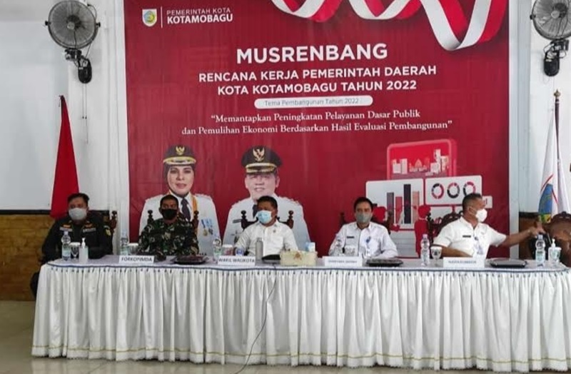 Mewakili Wali Kota, Nayodo Buka Musrenbang RKPD Kotamobagu 2022