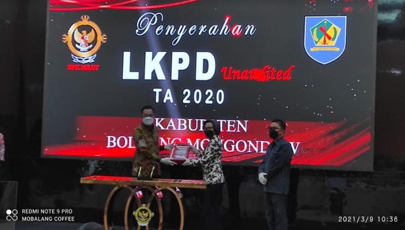 Yasti Berharap Penyerahan LKPD Bolmong Tahun 2020 dapat Membawa Opini WTP