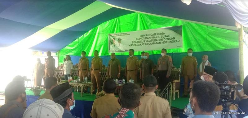 Kunker di Kecamatan Motongkad, Bupati Minta Sangadi Rangkul Kembali Masyarakat