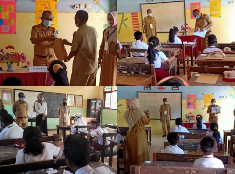 Terapkan Prokes Covid-19, 222 SD di Bolmong Laksanakan Ujian Sekolah