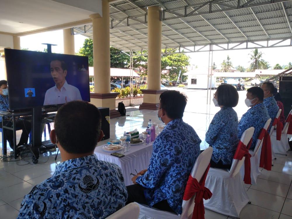 Lewat Virtual, Pemkab Bolmong Ikuti Upacara HKN dan Peluncuran PLD