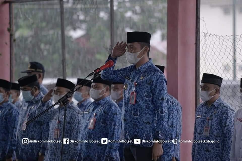Bupati Bolsel Pimpin Apel Perdana Pasca Libur Idul Fitri 1442 H