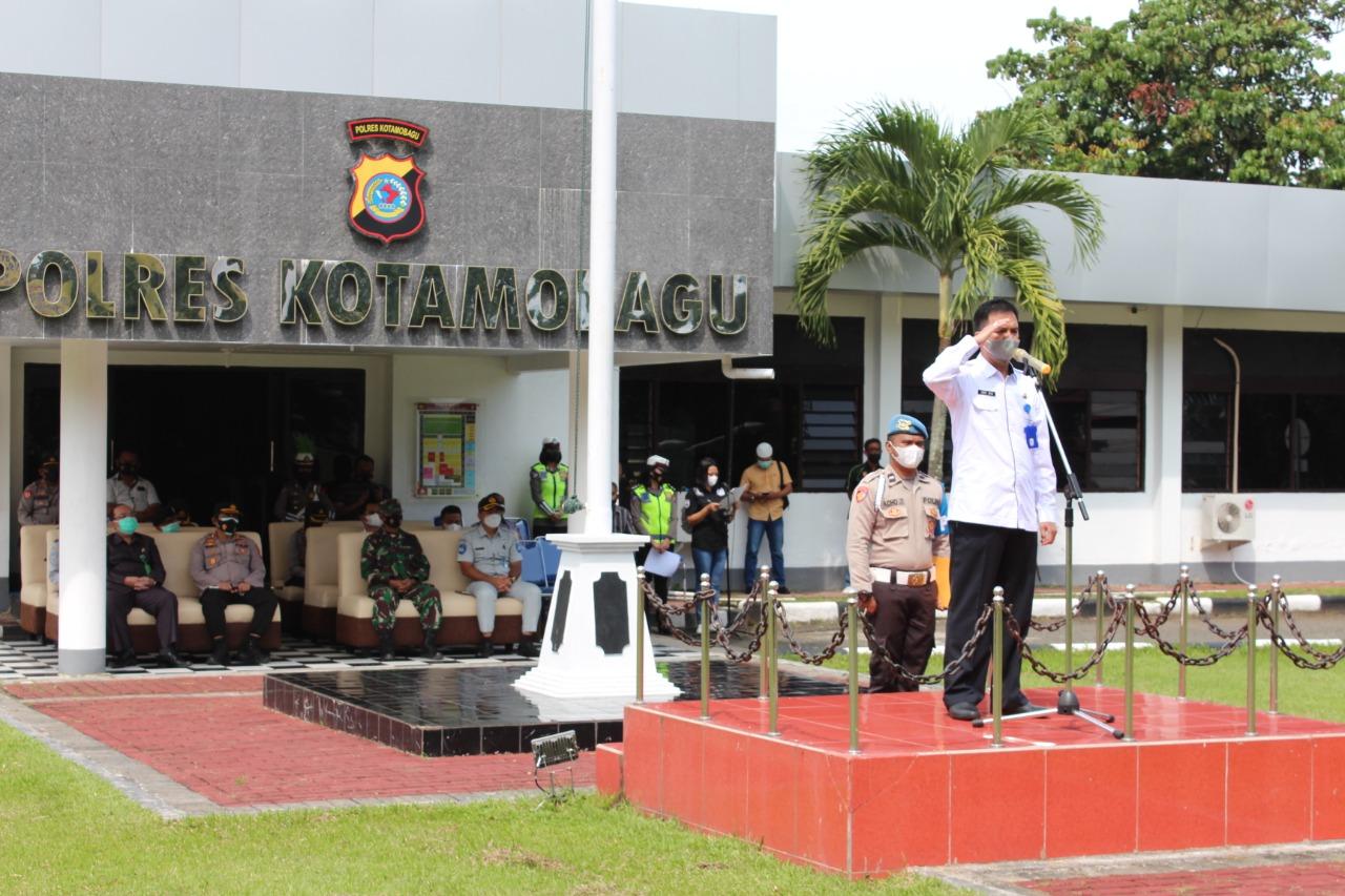 Wakili Wali Kota Pimpin Apel Gelar Pasukan Operasi Ketupat, Sekda Kotamobagu Bacakan Amanat Kapolri