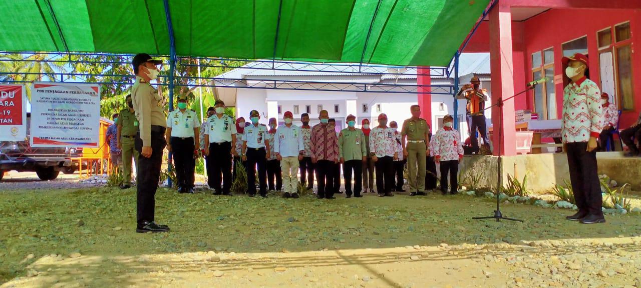 Jalankan Amanat Presiden, Iskandar Kamaru, Pimpin Apel Kesiapan Pos Penjangan Perbatasan Provinsi
