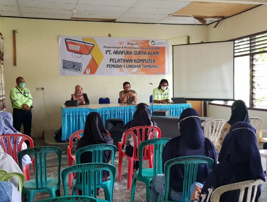 PT ASA Berikan Pelatihan Komputer Bagi 36 Pemuda Lingkar Tambang