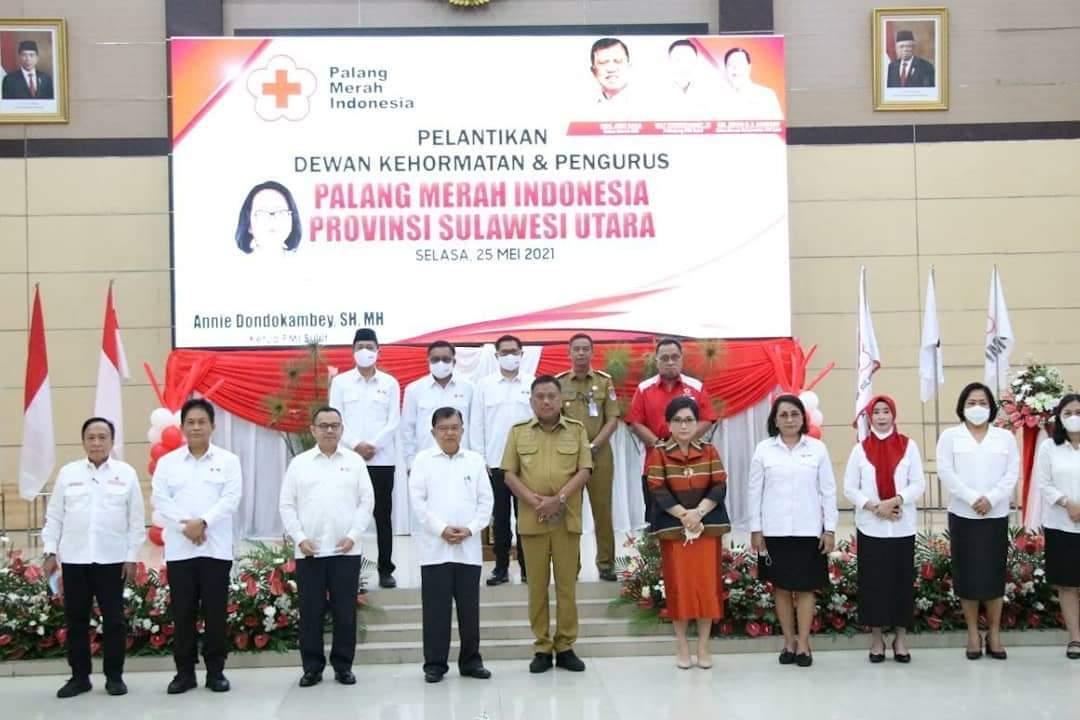 Bupati Bolsel Hadiri Pelantikan Dewan Kehormatan dan Pengurus PMI Sulut
