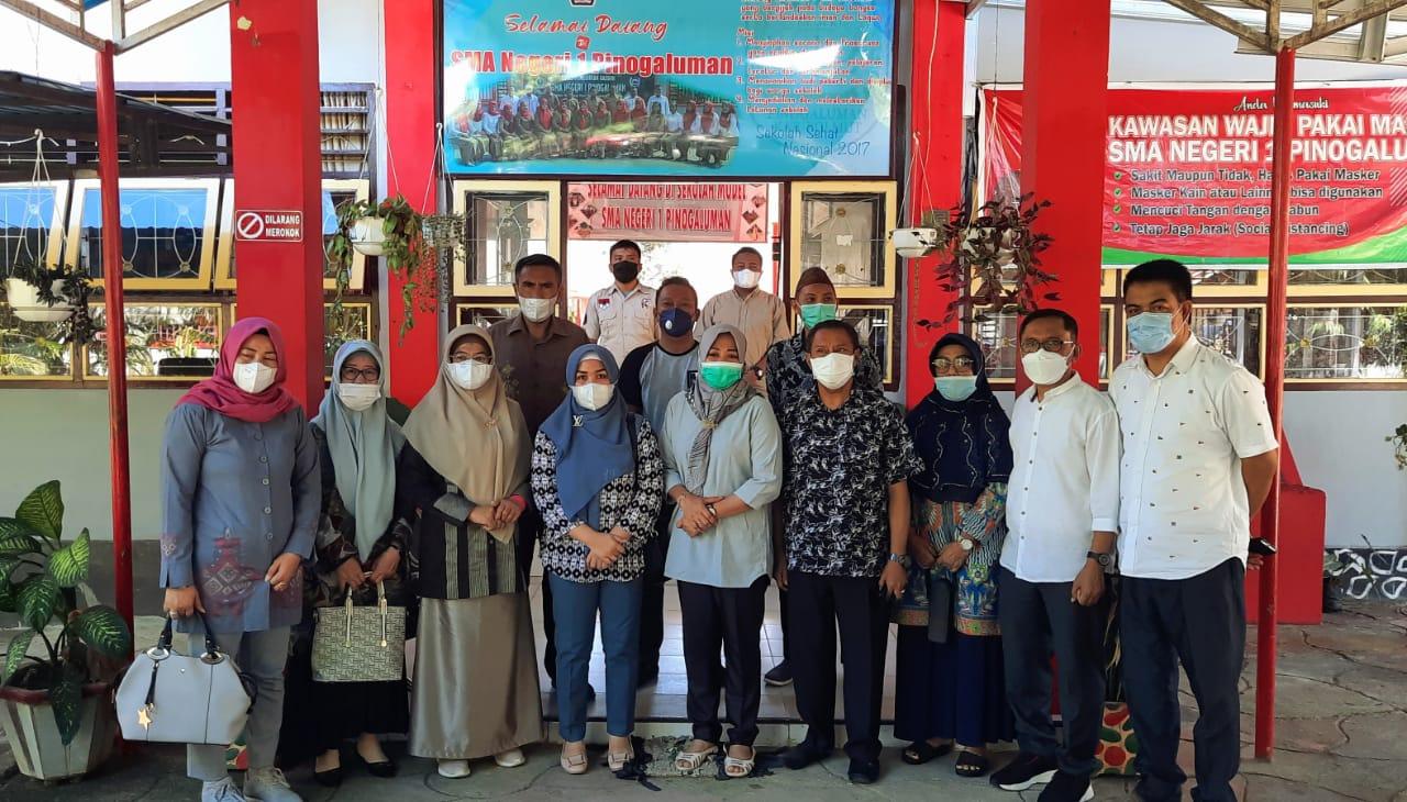 Persiapan Belajar Tatap Muka, SMA Pinogaluman Dijadikan Sampel DPRD Provinsi Gorontalo