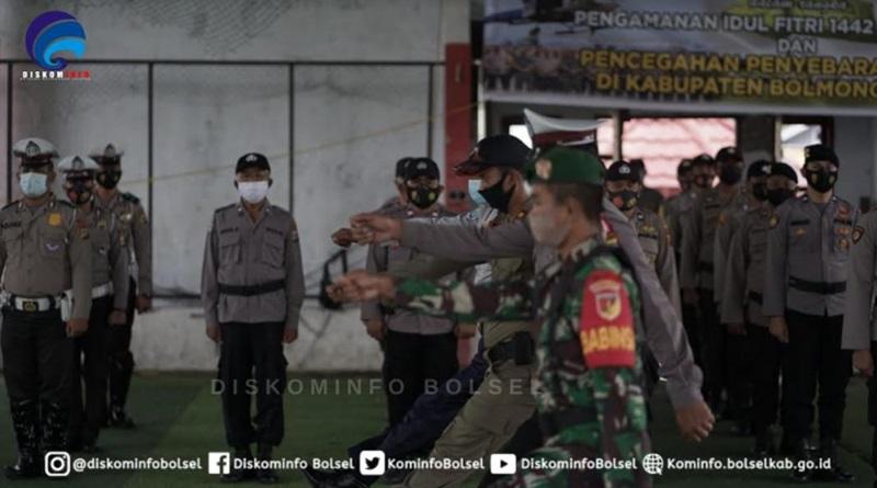 Diwakili Asisten I, Bupati Bolsel Hadiri Apel Gelar Pasukan Pengamanan Idul Fitri