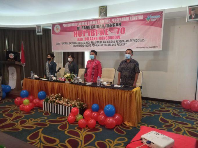 Hadiri HUT IBI Ke-70, Tahlis: Bolmong Siap Tambah Tenaga Bidan