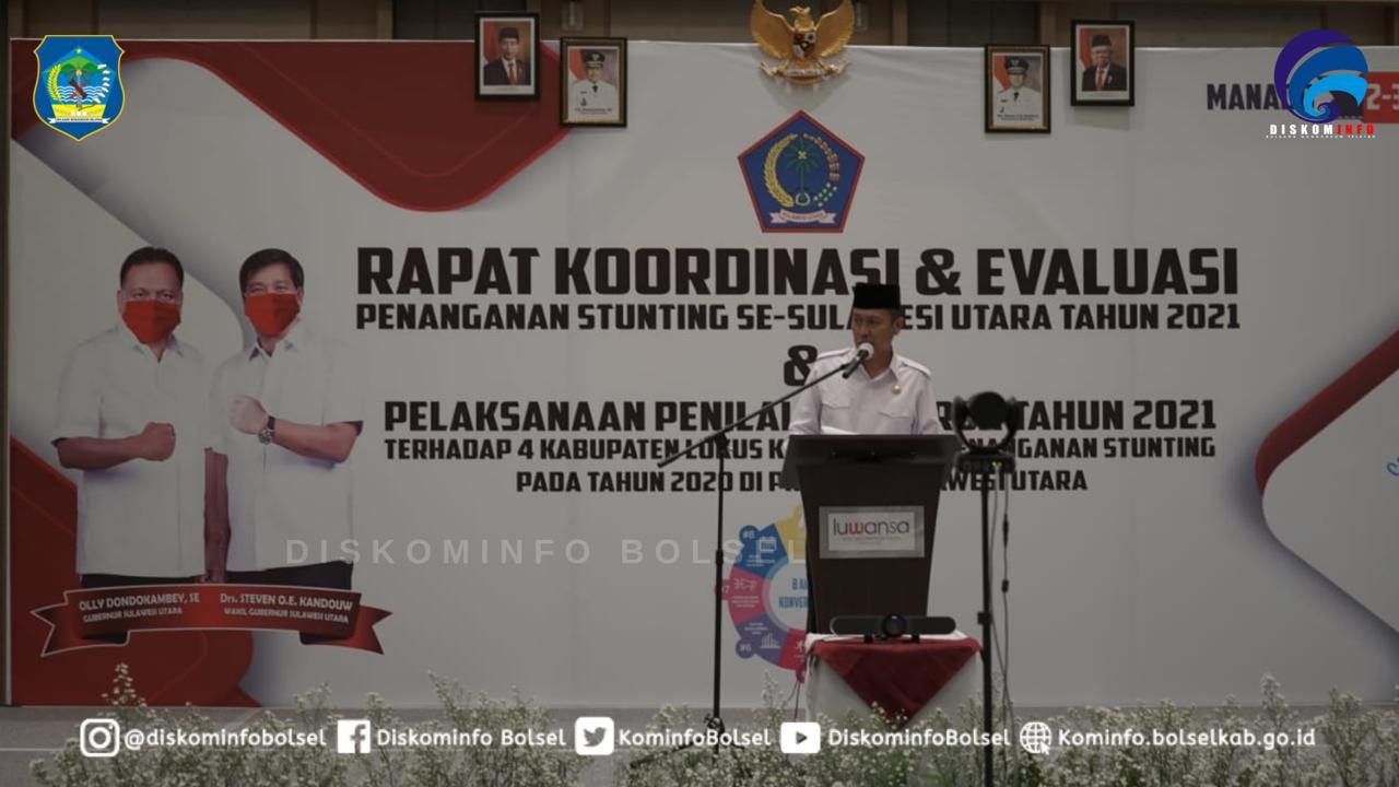 Bupati Bolsel Hadiri Rakor dan Evaluasi Penanganan Stunting di Manado