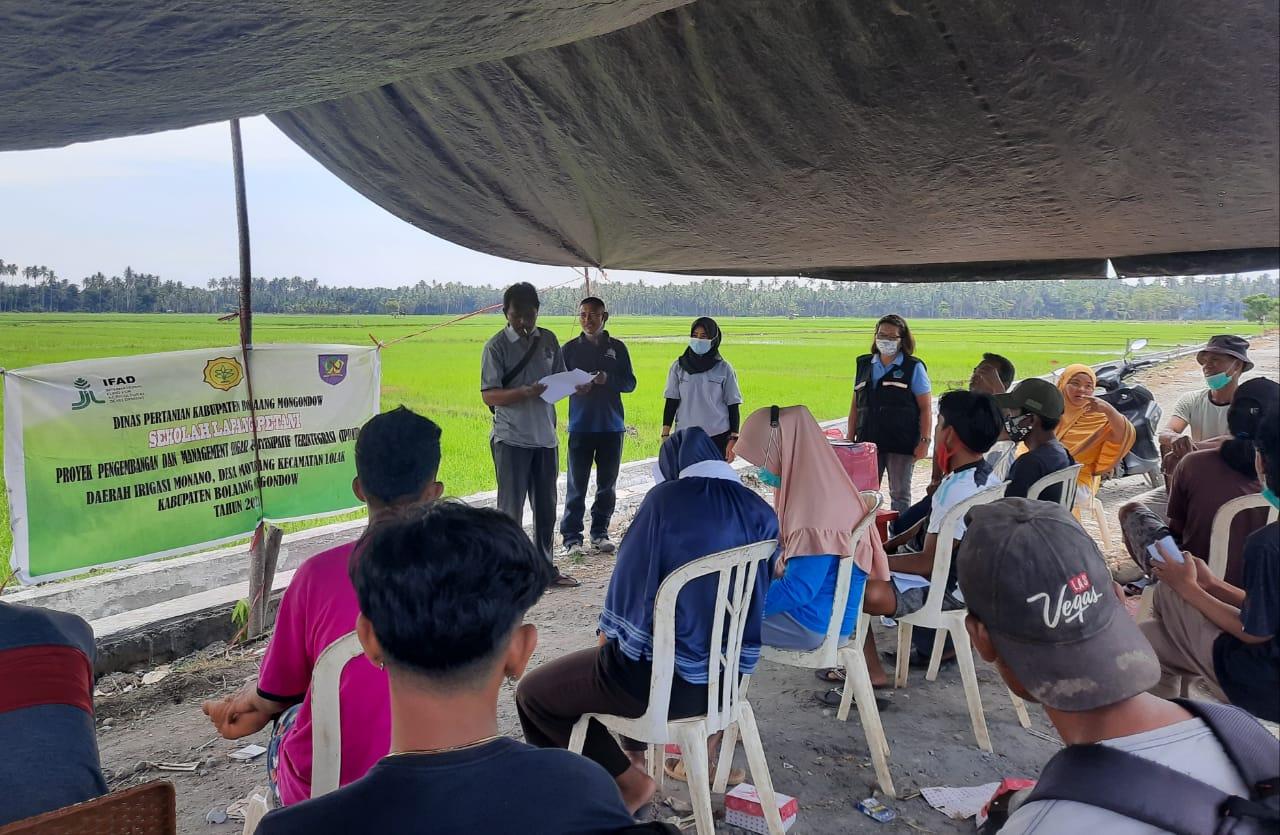 Kenalkan Metode Baru, Sekolah Lapang Petani Digelar di 12 Kecamatan se Bolmong