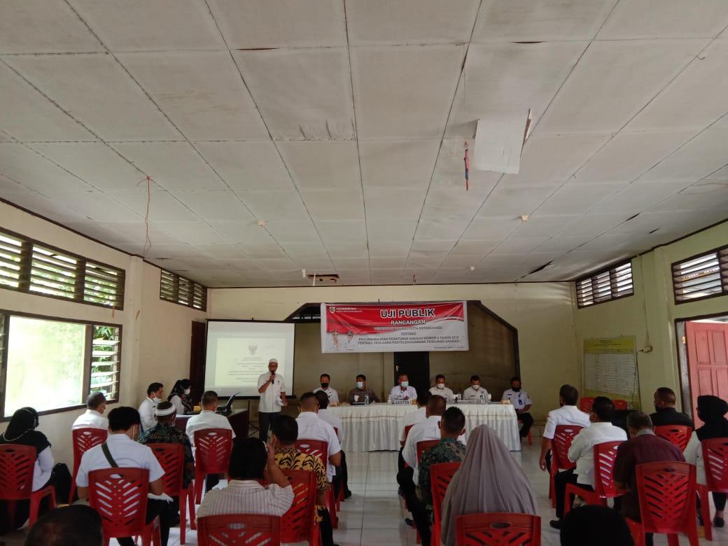 Pemerintah Kota (Pemkot) Kotamobagu menggelar Uji Publik Rancangan Peraturan Daerah (Perda) Kota Kotamobagu, atas perubahan