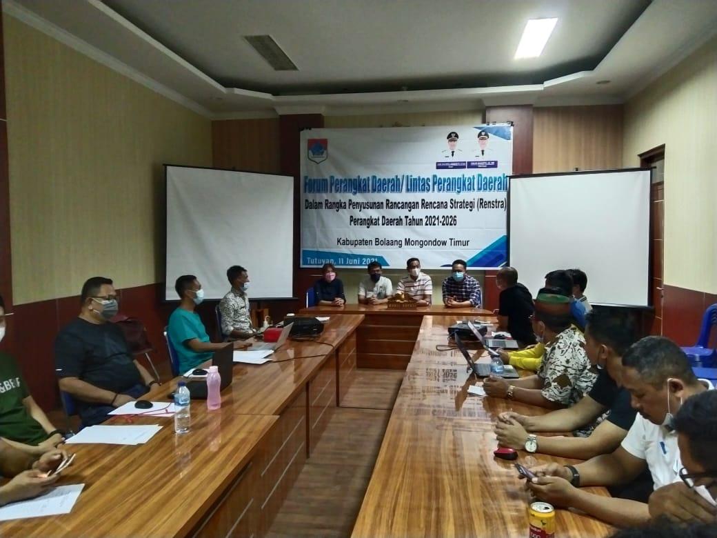 Wabup Boltim Pimpin Rapat Finalisasi Penyusunan Renstra 2021–2026