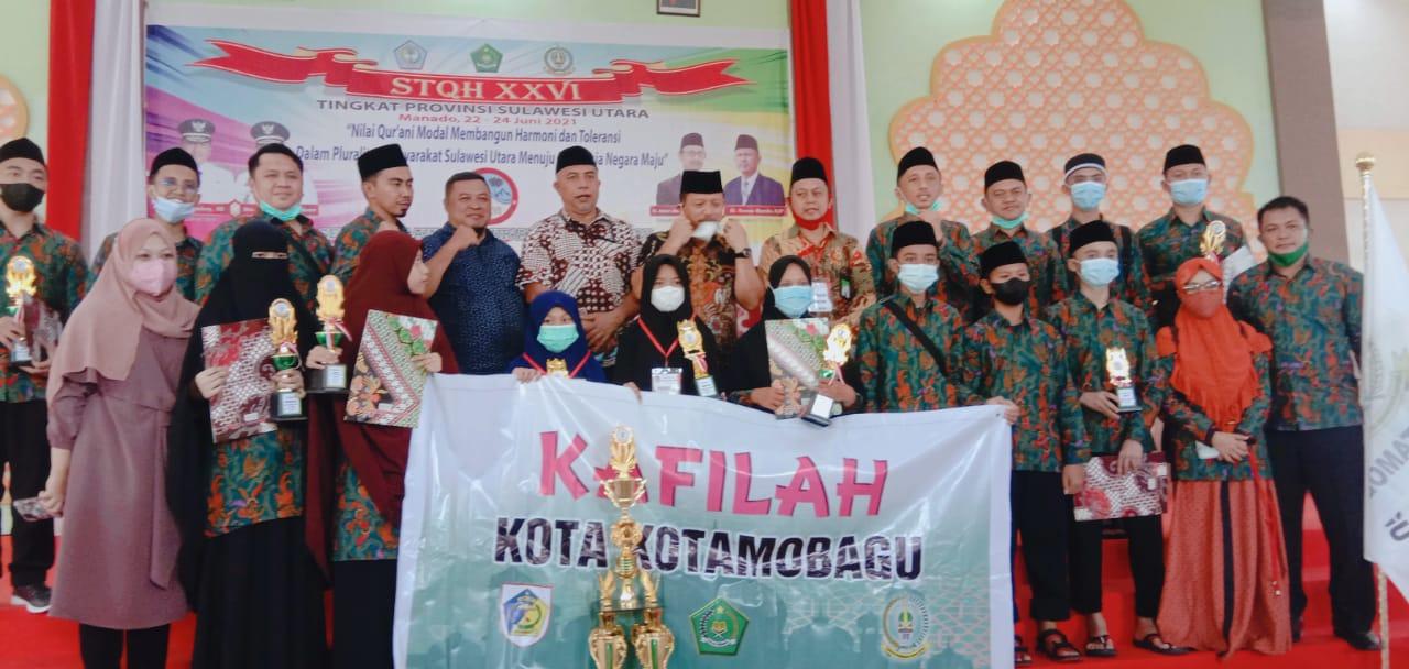 Khafilah Kotamobagu Raih Juara Umum Lomba STQH Tingakat Provinsi