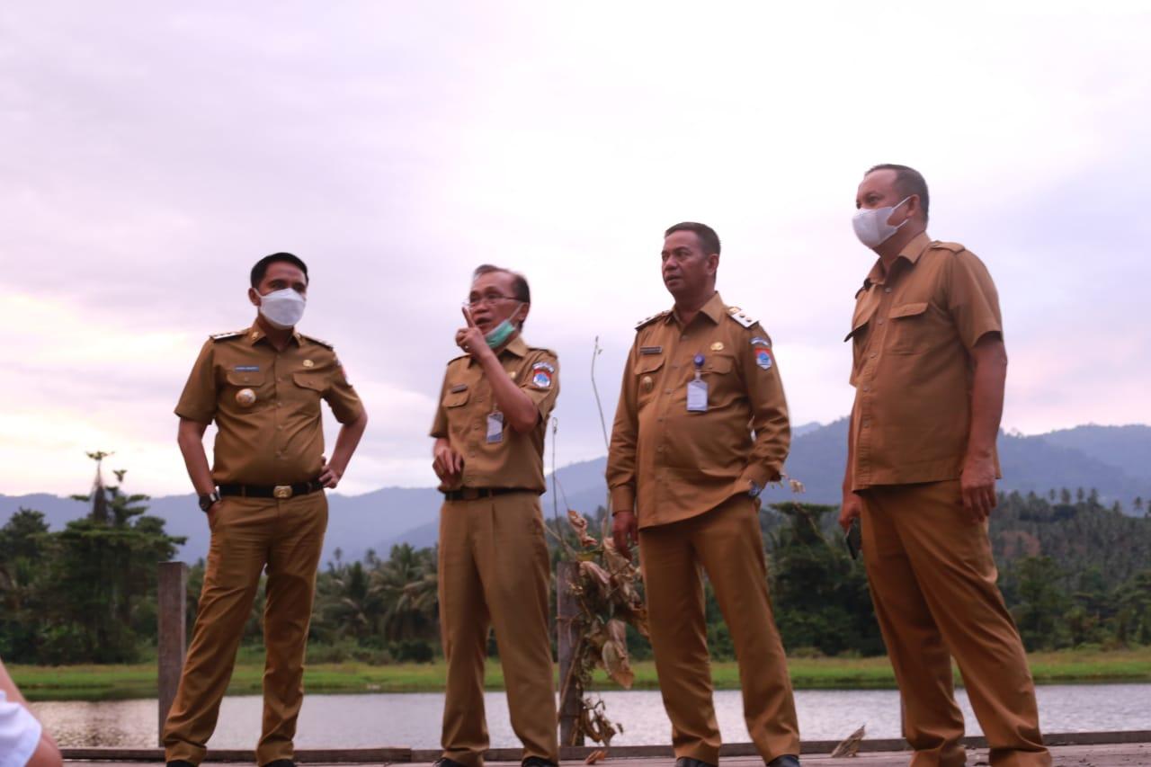 Sam Sachrul Bahas Penataan Danau Taman Kota Tutuyan