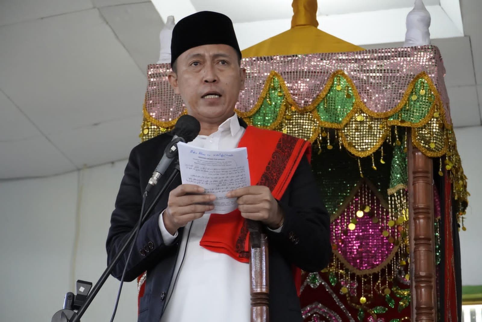 Bupati Bolsel Jadi Khotib Sholat Idul Adha 1442 Hijriyah
