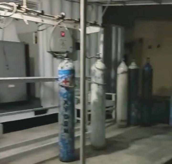 Tempat pengisian oksigen di RSUD Bolmong