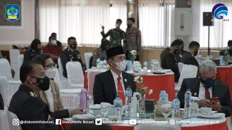 Bupati Bolsel Hadiri Acara Syukuran HUT Bhayangkara ke-75 di Mapolda Sulut