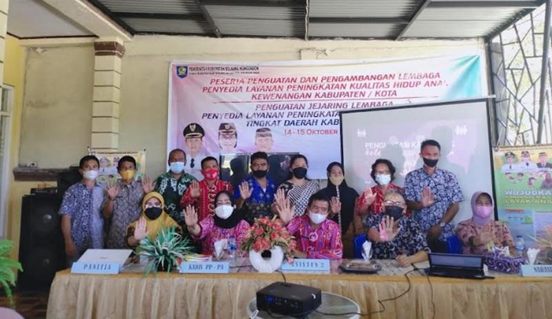 Penguatan Jejaring Lembaga Penyedia Layanan Peningkatan Kualitas Hidup Anak Digelar di Bolmong
